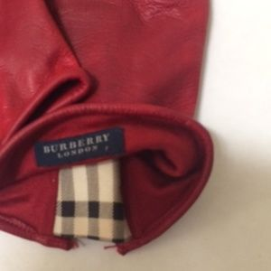 Burberry Accessories - Burberry Leather Nova Check Gloves 7